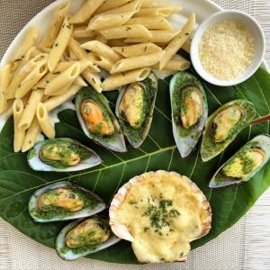 Fish, fish and pasta #fish #maritim #meeresfrüchte #mussels #muscheln #conciglie…