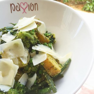 Greens and greens  cool idea baby potatos with broccolihellip