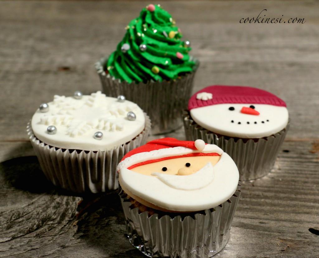 cookinesi apfel zimt cupcakes mit weihnachtsdeko. Black Bedroom Furniture Sets. Home Design Ideas