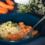 Vollkornreis an Karotten-Sahnesauce