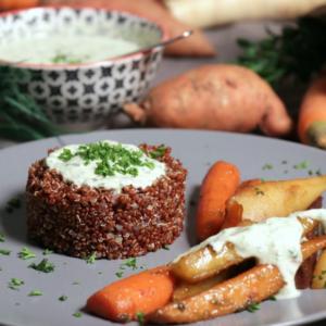 Quinoa mit karamellisiertem Gemüse