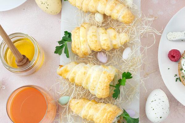 Blätterteig-Karotten zum Osterbrunch