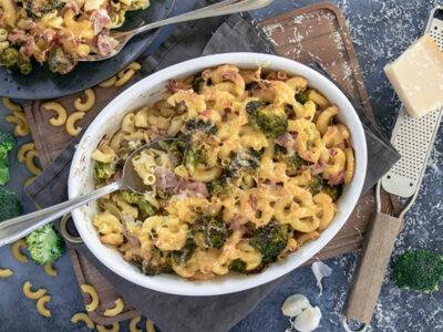 Nudel-Schinken-Auflauf mit Broccoli