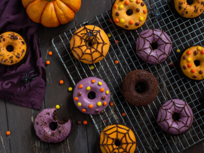 Gebackene Schoko Halloween Donuts