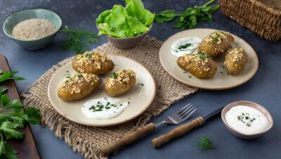 Schwedische Kartoffeln mit Kräutersauce