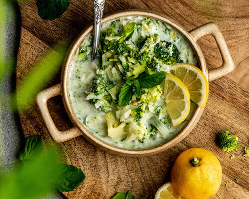 Kohlrabi-Broccoli-Chili Kaltschale
