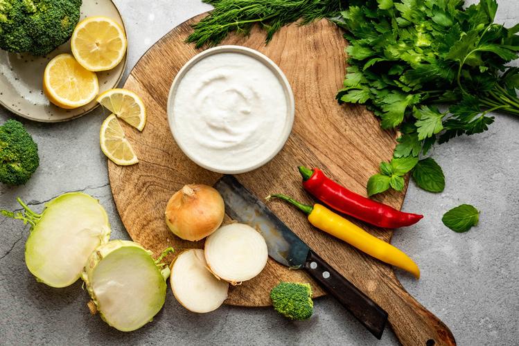 Zutaten für Kohlrabi-Broccoli-Chili Kaltschale